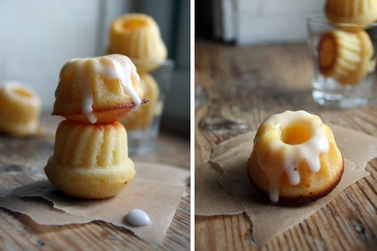 Bottermelk Zitrone Mini Gugls mit Zitronenguss