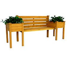 Banc-jardinière en bois