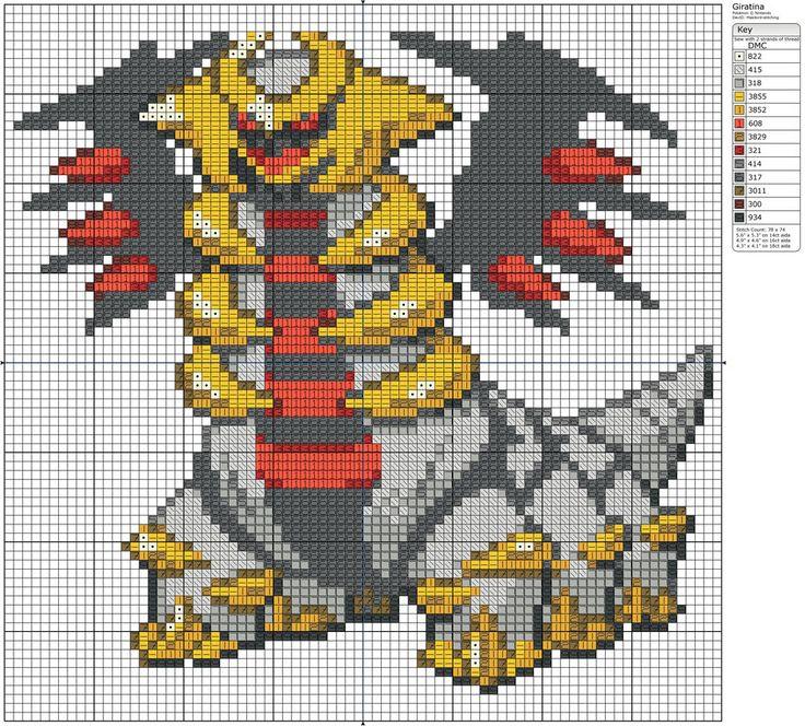 Legendary Pokemon Pixel Art Grid