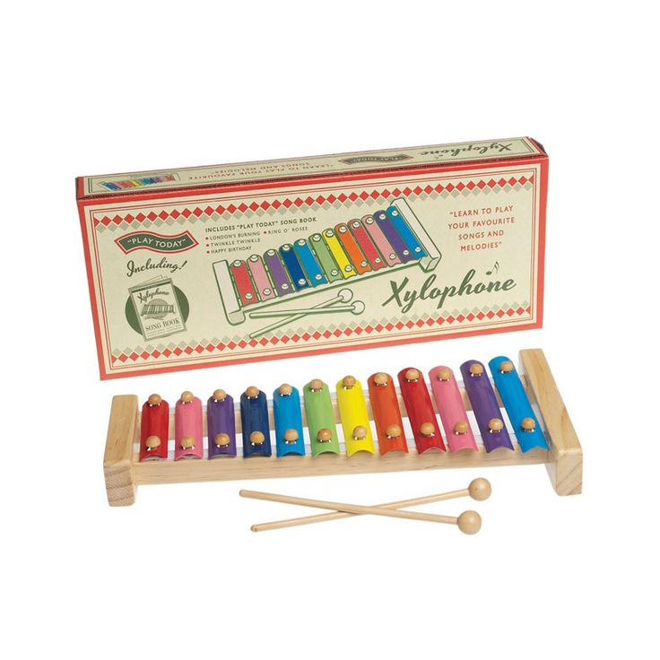 Lark Traditional Wooden Xylophone - $44.95 - Gorgeous vintage style wooden xylophone features rainbow coloured metal notes and comes complete with a song book so that little ones (and you) can learn to play your favourite songs and melodies!  Makes a gorgeous and unique gift idea for kids!