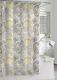 Amazon.com: Cynthia Rowley Fabric Shower Curtain Ornate Medallion Yellow Gray: Home & Kitchen