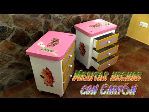 Mesitas hechas con Cartón, Manualidades fáciles y económicas - YouTube