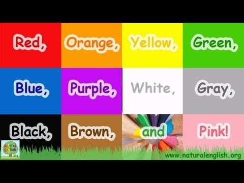 The Colors Song ~ fun learning for children ~ by Natural English .org