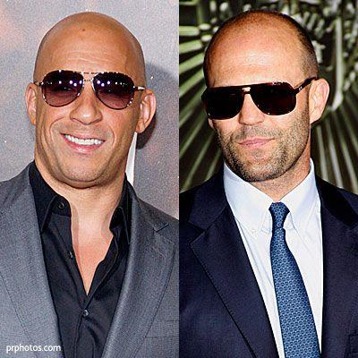 Battle of the bald bad boys! We love them both! Vin Diesel & Jason Statham x