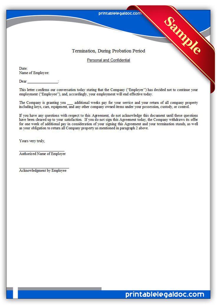 Printable termination regular employee Template