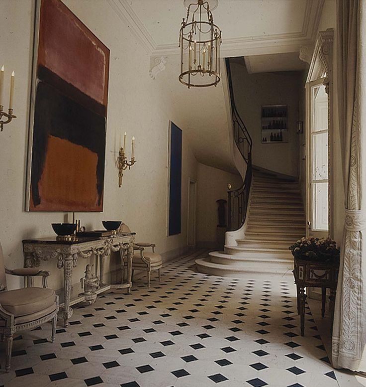 The entrance hall of Pierre and São Schlumberger's circa 1974 Parisian flat