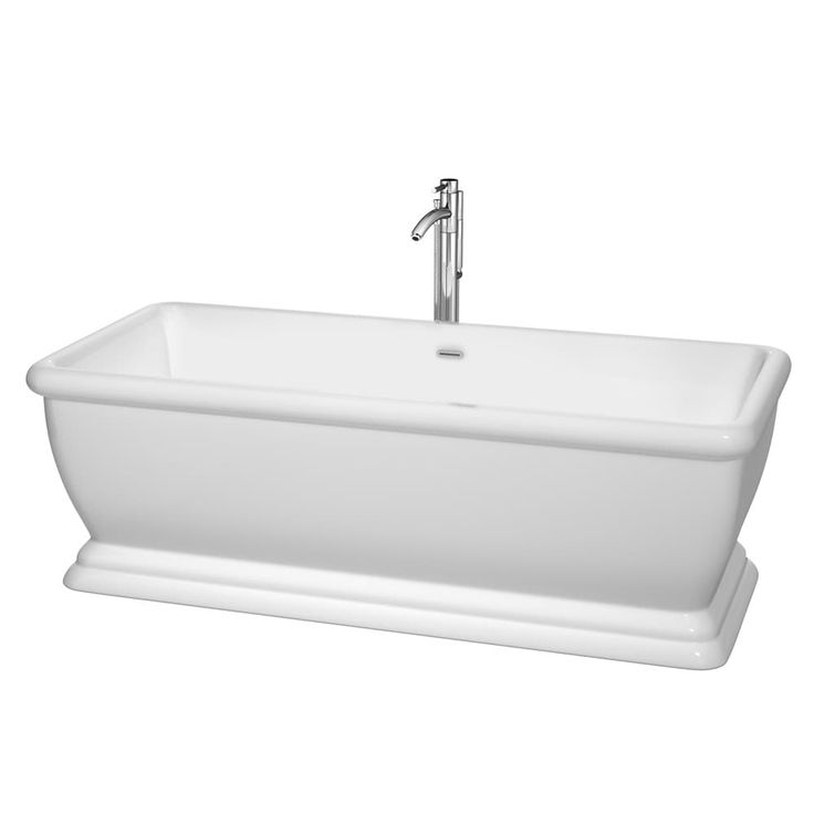 Wyndham Collection Candace 68-inch Freestanding Soaking Bathtub