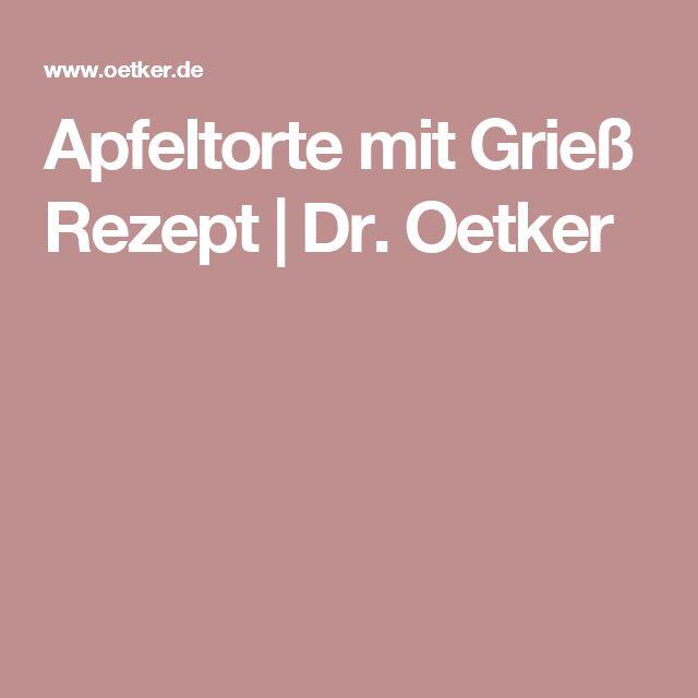 Apfeltorte mit Grieß Rezept | Dr. Oetker