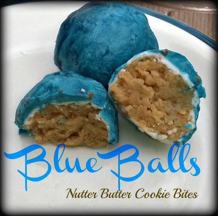 Blue Balls Cookie Bites