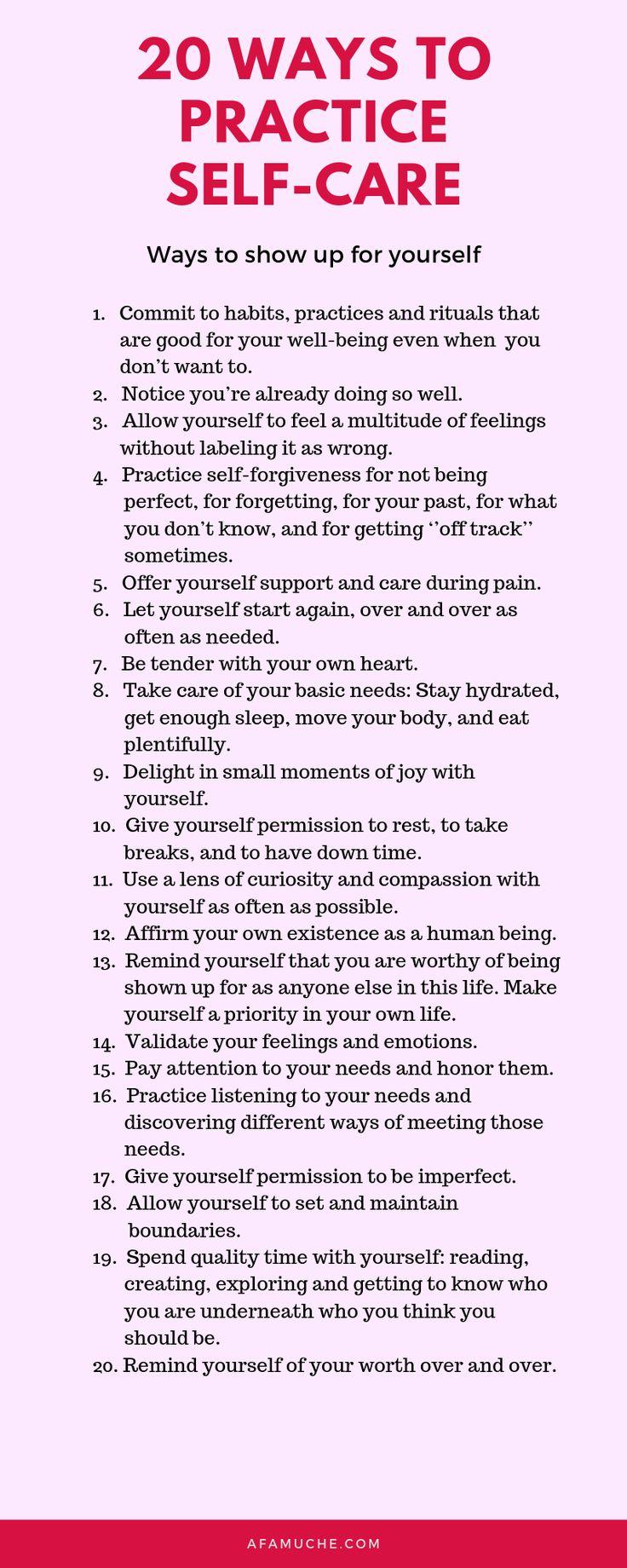 Extreme SelfCare Checklist + Strategies Self care, Self
