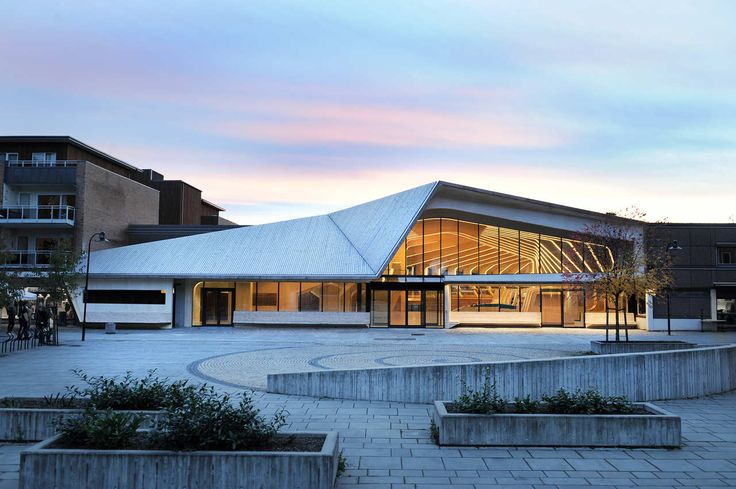 Built by Helen & Hard in Vennesla, Norway with date 2011. Images by Emile Ashley. For their new library and community center in Vennesla, Norwegian architects Helen & Hard bring a sophisticated e...