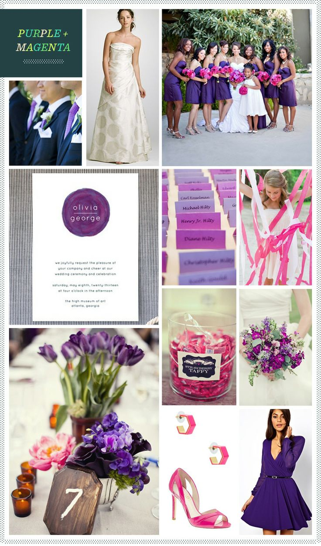REVEL: Purple and Magenta Wedding Inspiration (love the purple tulips)