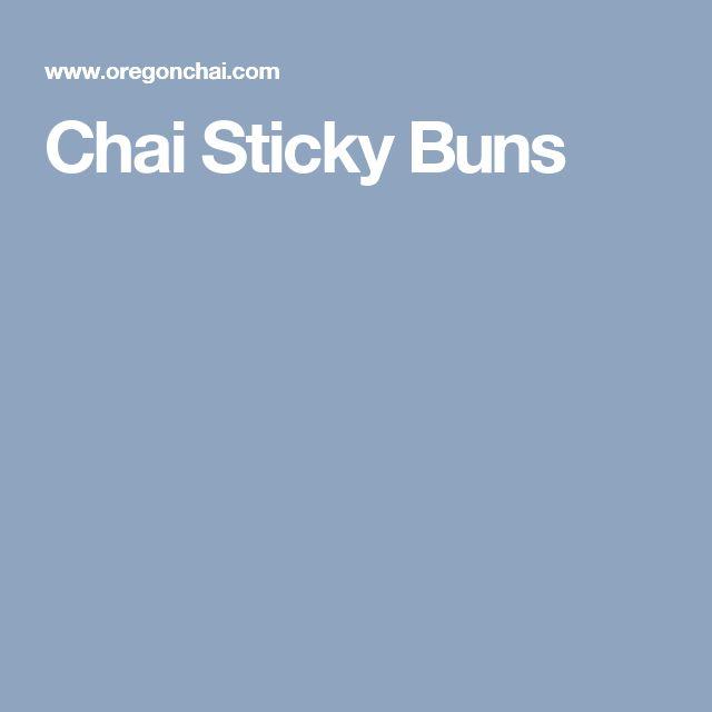 Chai Sticky Buns