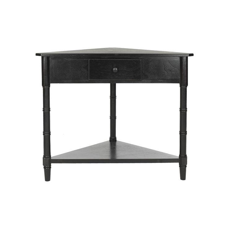 Safavieh Gomez Corner Accent Table, Black