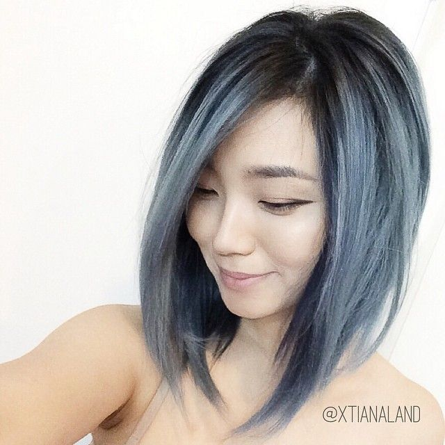 Best 25+ Blue Grey Hair Ideas On Pinterest
