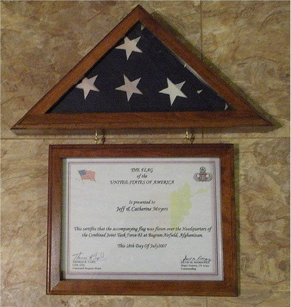 New Cherry Flag Display Case For 3x5 Capitol Flag Matching 8 1 2 X 11 Certificate Frame Flag Display Flag Display Case Memorial Flag Display