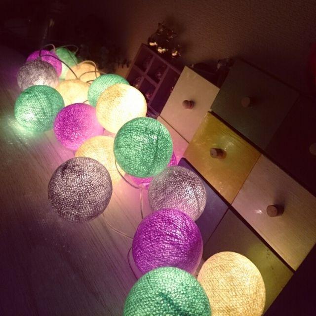 照明/コットンボールライト…などのインテリア実例 - 2015-03-05 05:04:17 | RoomClip(ルームクリップ)