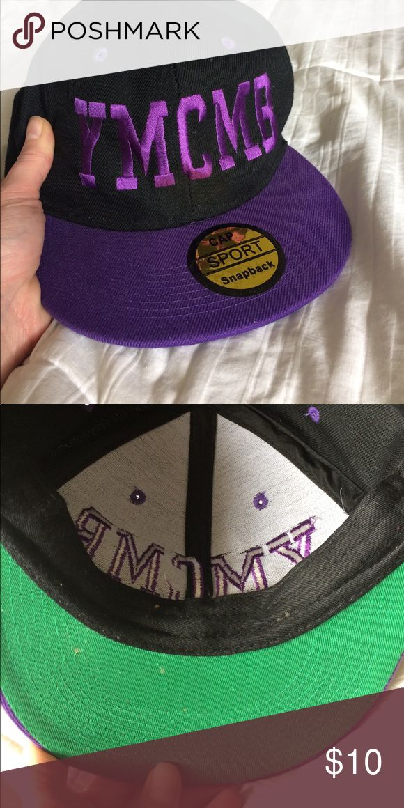 YMCMB flat brim hat Cash Money Young Money Billionaire flat brim hat with adjustable back. Lil Wayne will be proud! Small dots of paint on inside see second pic. Gangsta gangsta 😆 CMYMB Accessories Hats
