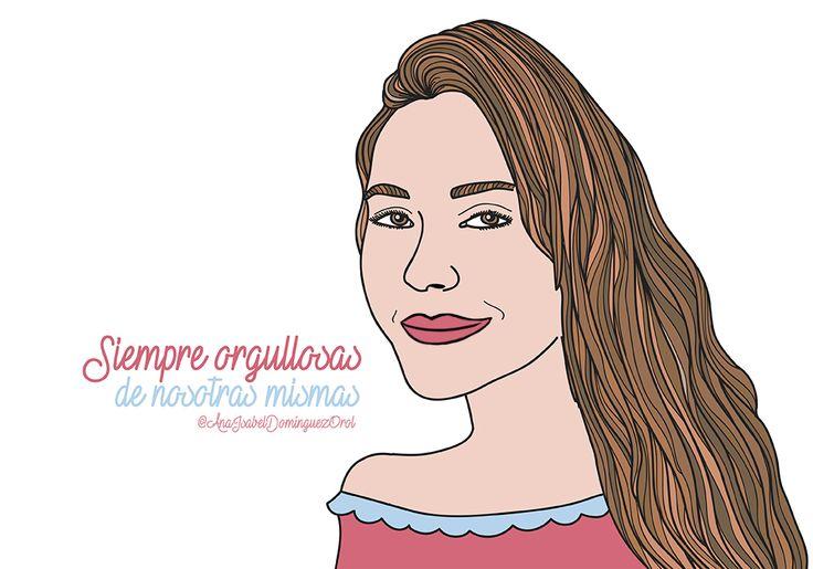 Siempre orgullosas de nosotras mismas. #seamosnosotras #bezoya, ilustración, chica, girl, woman, mujer, frase, positividad, optimismo, motivación, cámara, foto, gorro, inspiración, frases inspiradoras, frases motivadoras