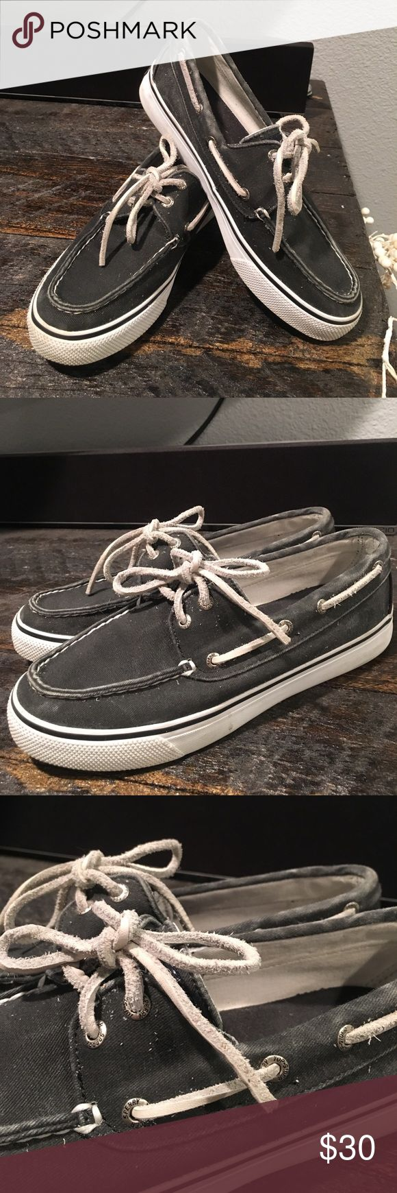 Grey and white sperry's! Sperry boat shoes in a neutral color. Make me an offer! Sperry Top-Sider Shoes Flats & Loafers