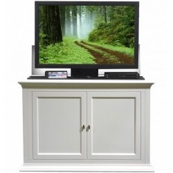 seaford tv lift cabinet by touchstone home products cabinet includes mounts and features a motorized lift for flat screen tvu0027s remote control activated to