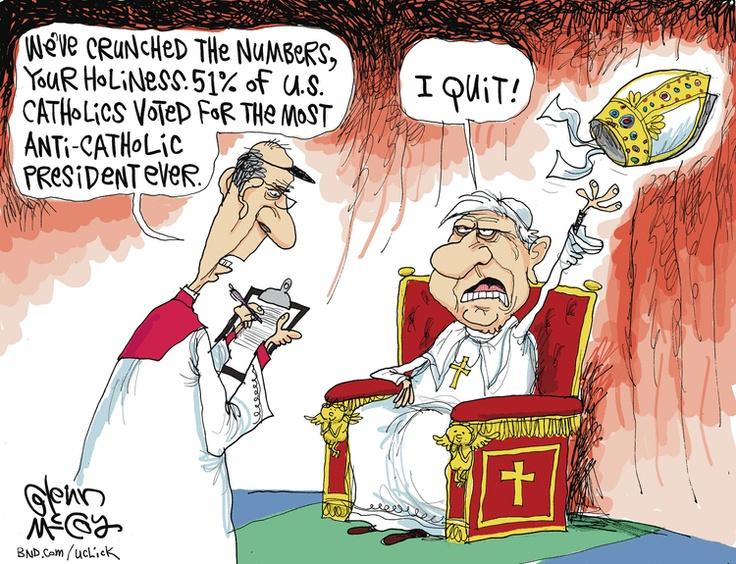 The real reason the Pope resigned. Glenn McCoy on GoComics ...