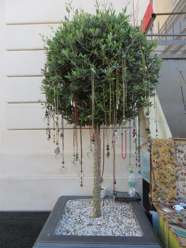 Necklaces hanging on a tree! Athens! #athens #greece