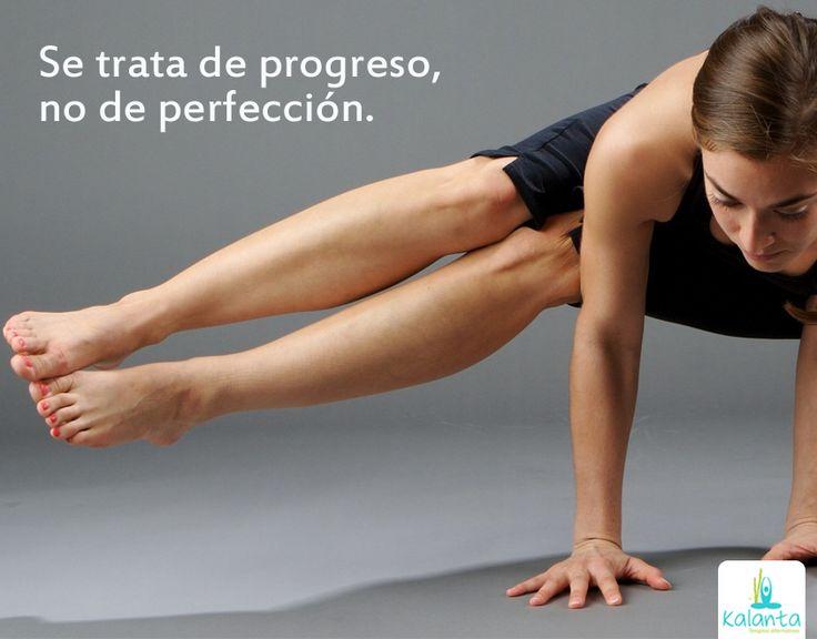 Yoga: Progreso, no perfección.