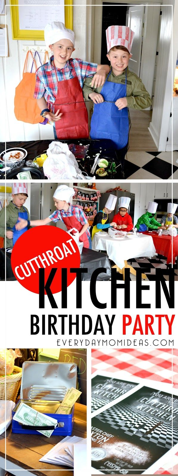 My kids and I have been binge watching Cutthroat Kitchen on Netflix so my eleven year old son begged me for a cooking party for his up co...