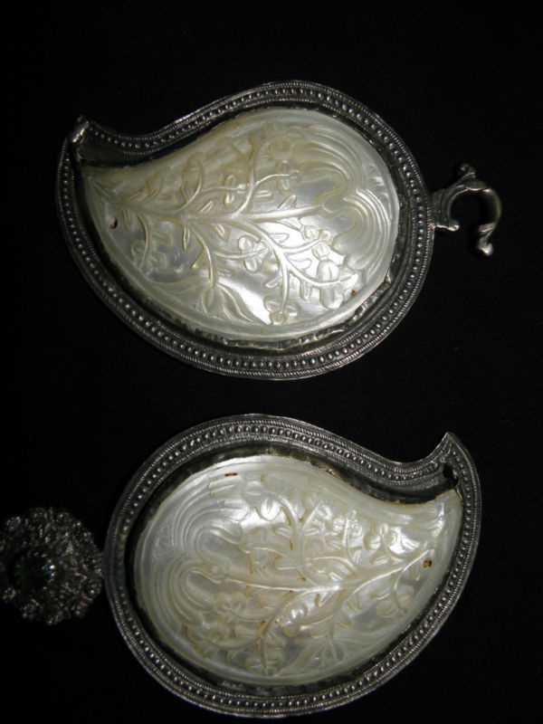 Boucle ceinture nacre antique ethnic Bulgarian Balkans mother pearl buckle belt  Vendeur jq1348 ebay
