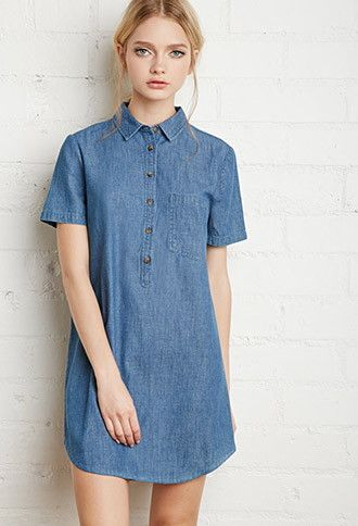 Denim Shirt Dress | Forever21