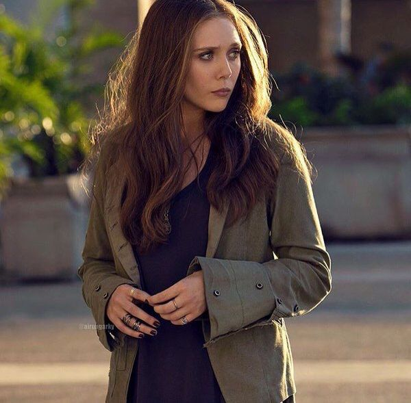 Elizabeth Olsen as Wanda Maximoff / Scarlet Witch on Captain America Civil War