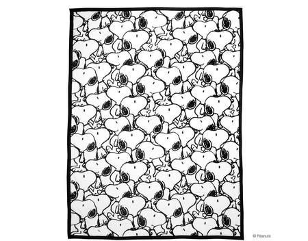 BUTLERS PEANUTS Flanell Decke Snoopy allover Polyester
