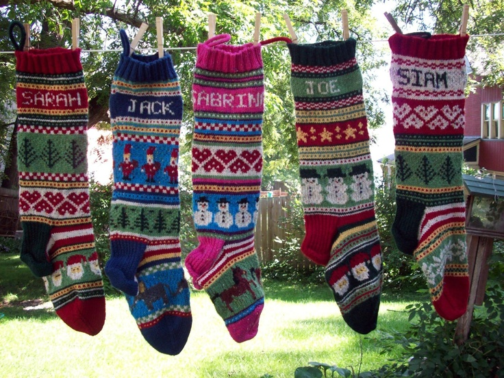 95 best christmas stocking knit patterns images on Pinterest ...