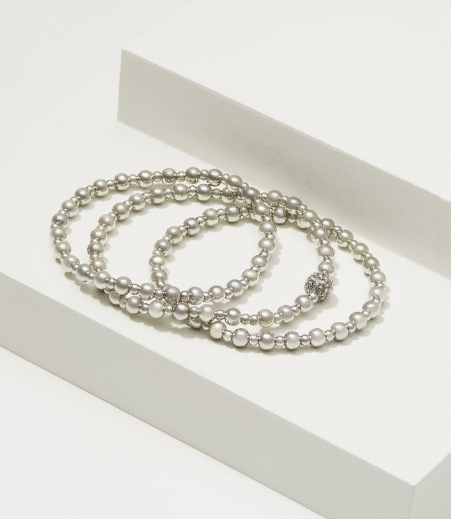Metallic Stretch Bracelet Set