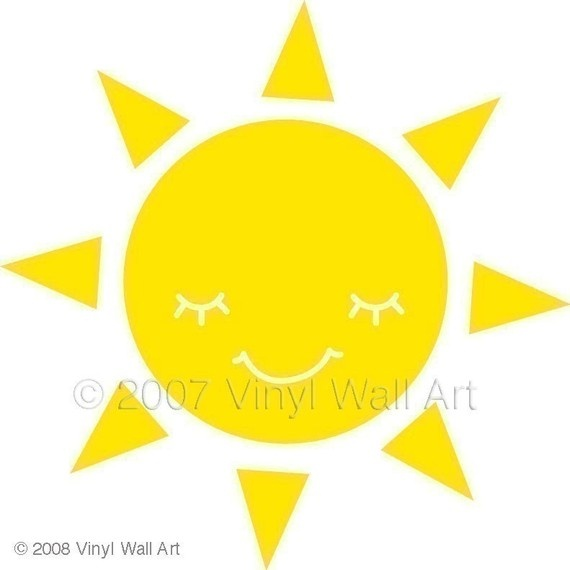 Desert rat , can not live without the warm sun. Though it wasn't always that way !: Sun Vinyls, Vinyls Decals, Decals Medium, Art Sun, Vinyls Wall Decals, Sunny Day, Sun Decals, Sunshine Rooms, Vinyls Wall Art