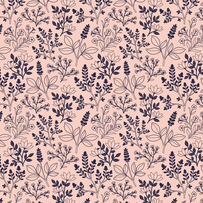 Blush Pink Floral Pattern Art Print by Alyssa Scott | Society6