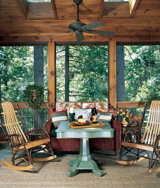 17 images about screened porch deck ideas on pinterest for Log cabin porches and decks