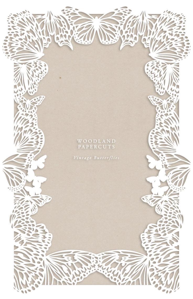 Vintage Butterflies Papercut Ketubah by Naomi Shiek for Urban Collective