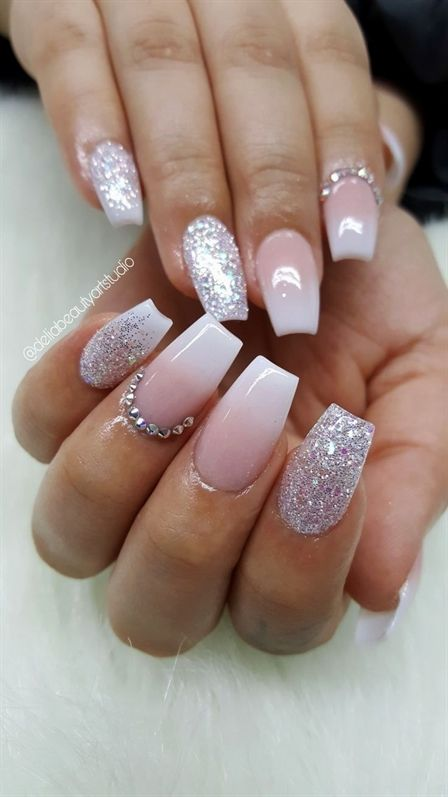 Ombre Acrylic Nails Coffin Shape Acrylicnailsalmond Nails Nails Coffin Shape Nails Nail