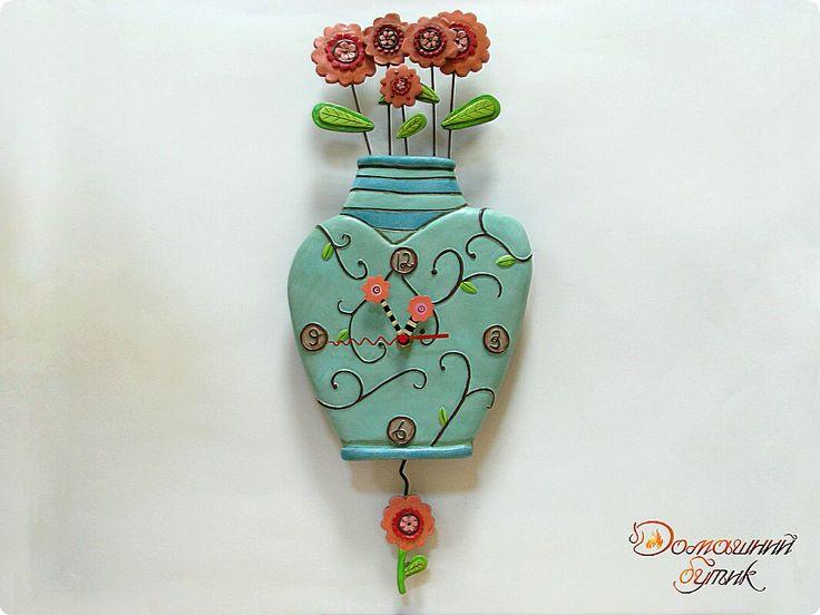 """Настенные часы """"Голубая ваза"""""""