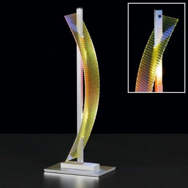 Diese außergewöhnliche Leuchte macht aus jedem Raum etwas Besonderes.  Ein echter Eyecatcher für Ihren Tisch, egal ob zu Hause oder im Büro.  Die Leuchte erscheint je nach Standort im Zimmer eine andere Farbe zu haben. Dabei geben die 4 LEDs immer ein gleichmäßig warm weisses Licht ab. #stehleuchte #Lampe #LED #moebelpower #moebeltraeume #Tischleuchte #Acrylglas