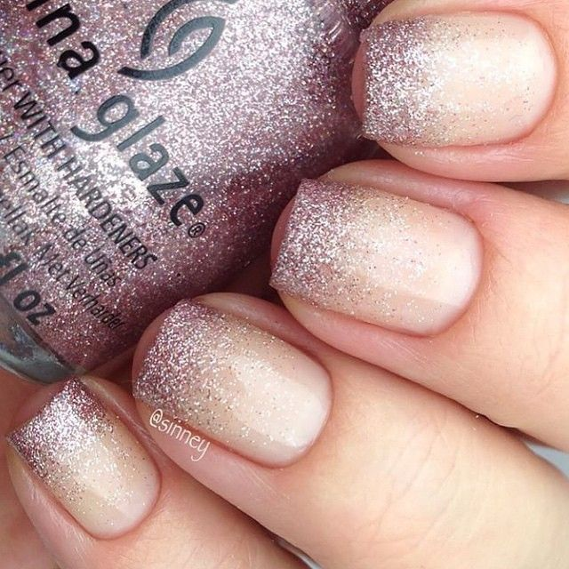 Best 25 gradient nails ideas on pinterest glitter gradient matte gray nails prinsesfo Gallery