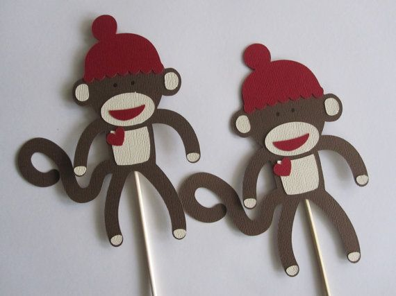 Hey, I found this really awesome Etsy listing at https://www.etsy.com/listing/127516872/3-sock-monkey-centerpieces