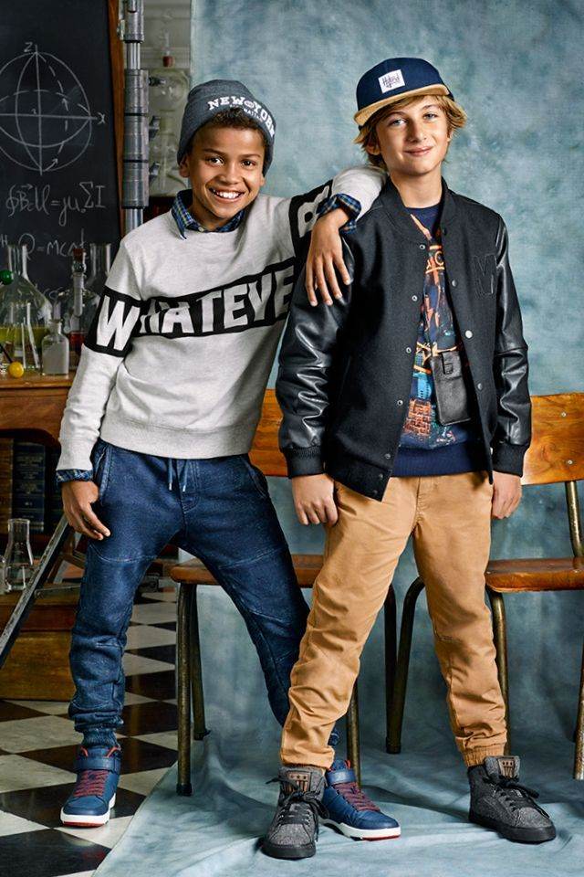 Tackle whatever the year throws your way with back to school boys clothes for the 8 - 14 year old range from H&M.
