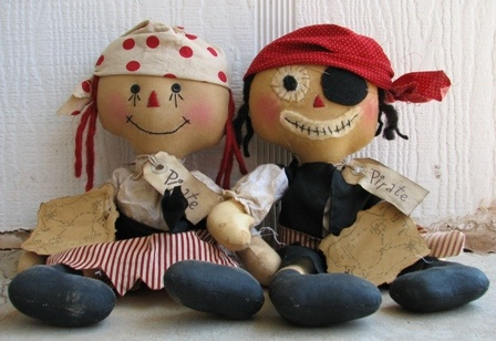 Pirate rag dolls