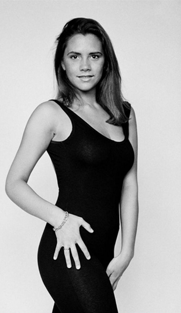 Victoria Beckham at 18 years old