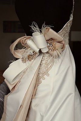 feathered bow