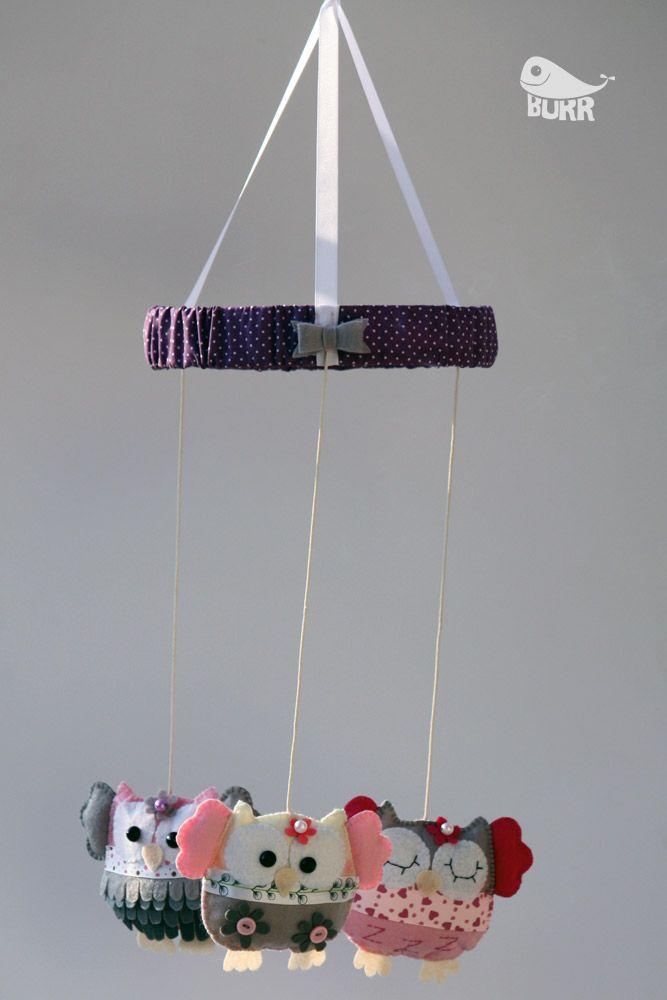 mobile owls   Burr - Handmade with Love