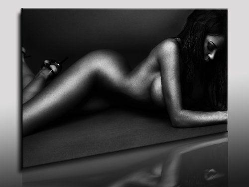 Bild auf LEINWAND AKT EROTIK GIRL abstrakt verschiedene Größen wählbar!!! gerahmt fertig auf HOLZRAHMEN Kunstdruck Wandbild auf Rahmen günstiger als Ölbild Gemälde/Poster/Plakat/kein Poster oder Plakat (100x70cm)